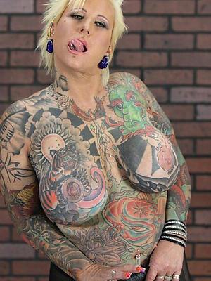mature tattoo bare-ass bared