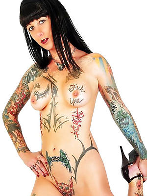 curvy tattooed mature women exposed
