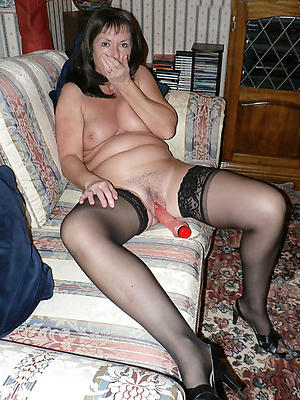 close up shop mature in stocking