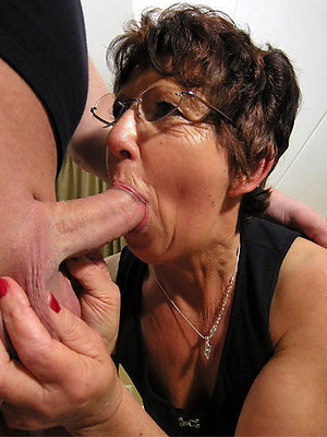 naughty blonde mature blowjob pics