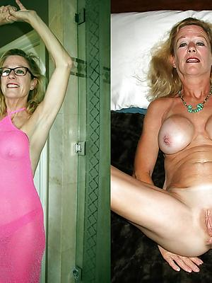 spectacular mature dressed undressed porn photos