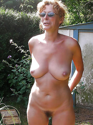 wonderful mature tits into the open air