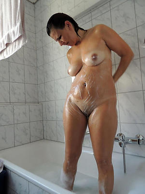 sexy mature nude shower