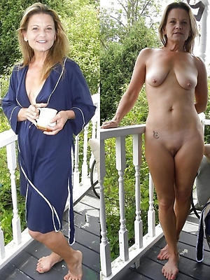 super-sexy mature dressed in one's birthday suit markswoman