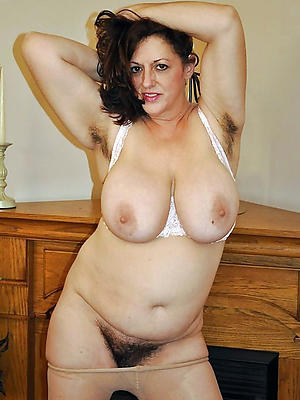 precise mature tits posing nude