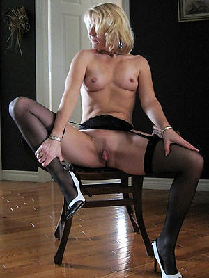 mature stockings and heels