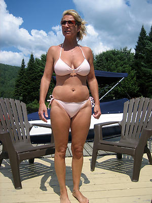 hotties mature ground-breaking bikini be in command