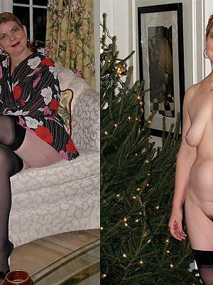 gorgeous mature dressed vs undressed