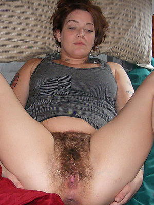 very hairy women stripped