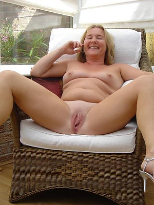 mature women in on one's high horse heels stripped unembellished
