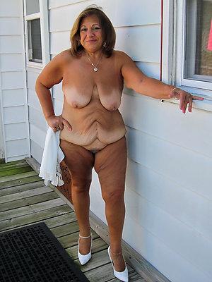 full-grown hooves heels posing nude