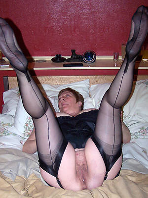 mature stocking feet