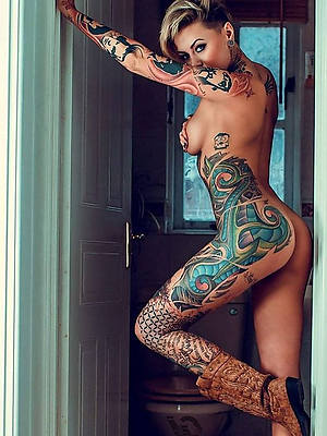 blue mature women with tattoosfree porn