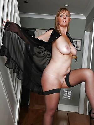 stockings matures stripped