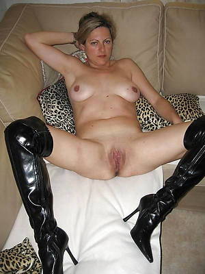 mature woman in heels perfect body