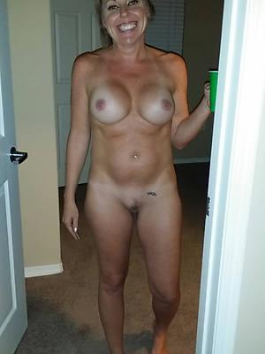 erotic bald mature column posing