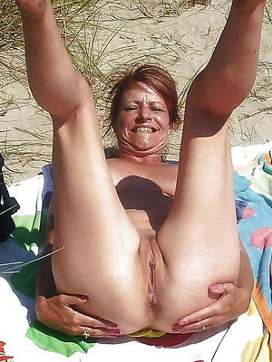 beauty mature nudist beach photo