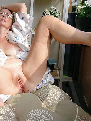 of age granny lady mediocre breast