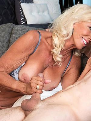 nasty mature granny handjob